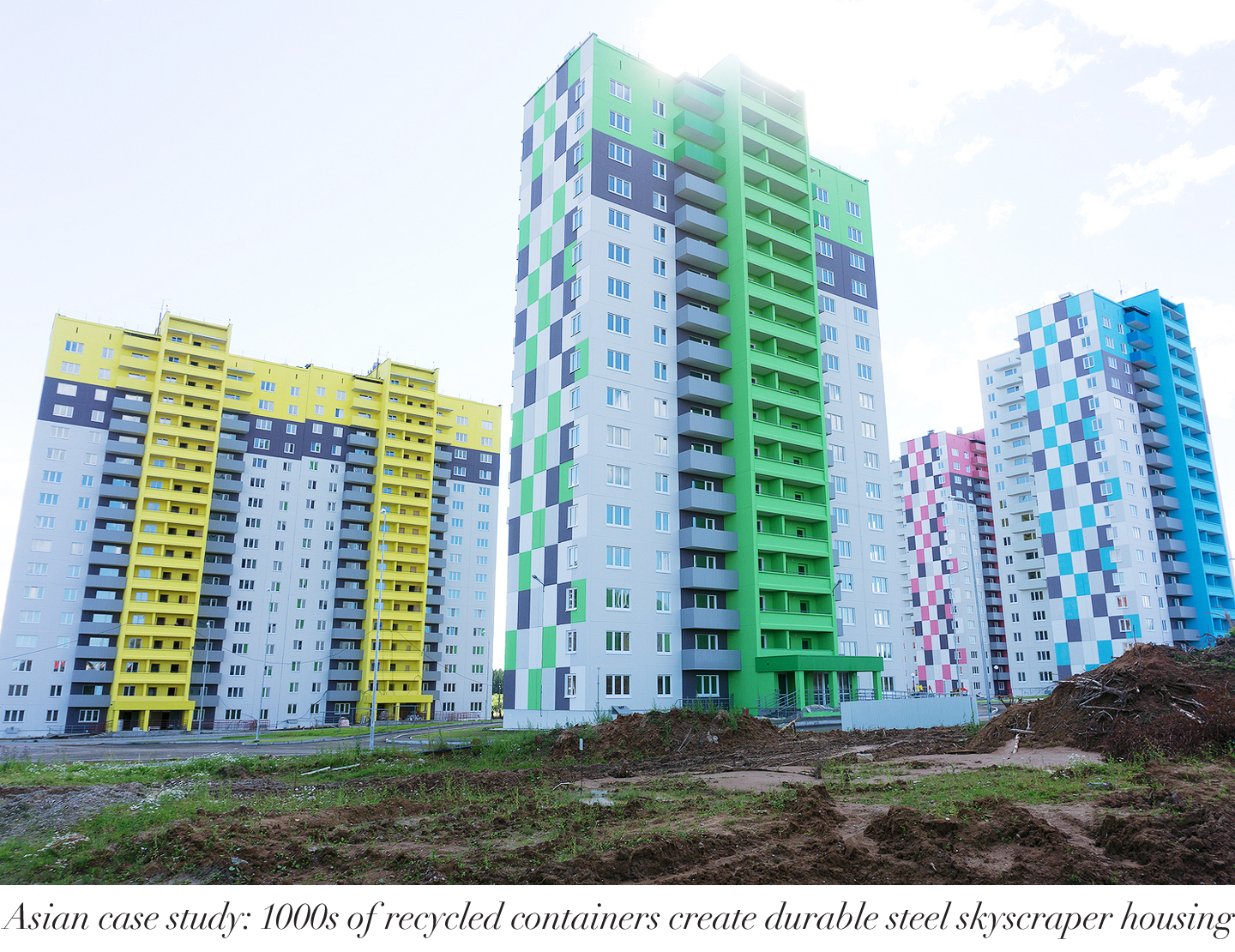 Colorful Cargo Containers Used As Home By Students To Solve Hous
